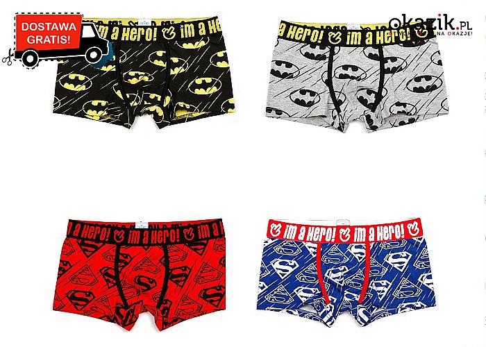 Bawełniane bokserki superbohatera