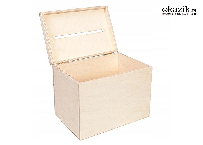 Pudełko drewniane na koperty