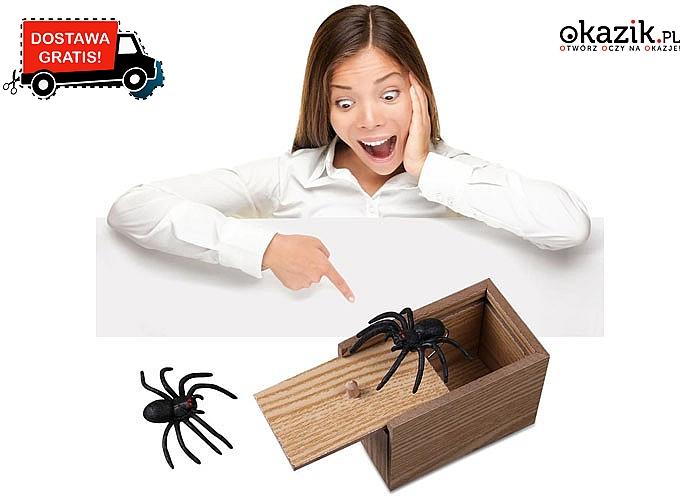 Śmieszna zabawka pająk