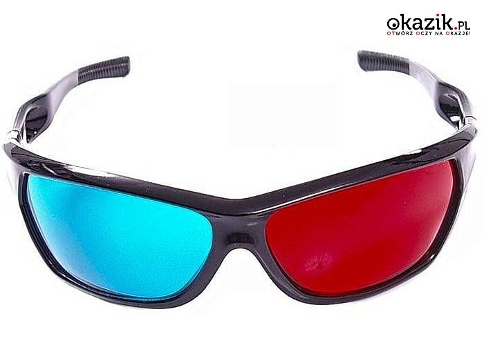 Okulary 3D Anaglify Red-Cyjan