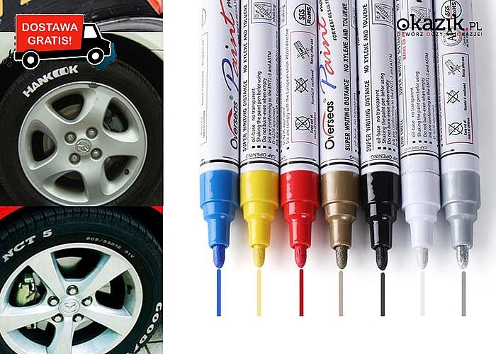 Kolorowe markery do opon