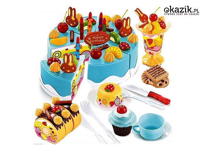 Tort urodzinowy do krojenia na rzepy