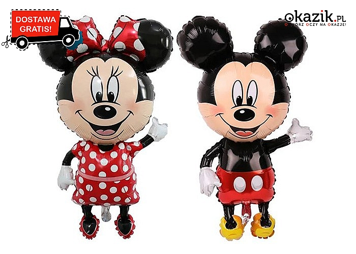 Balon Myszka Mickey/Minnie