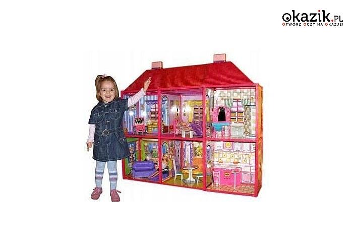Domek dla lalek XXL, w komplecie mebelki