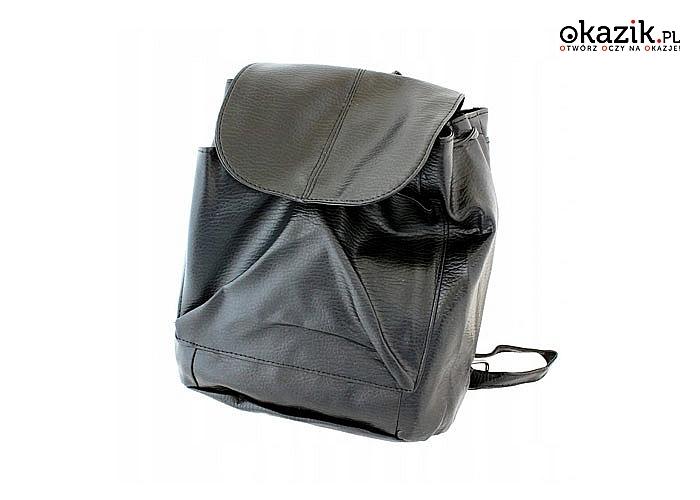 Skórzany plecaczek