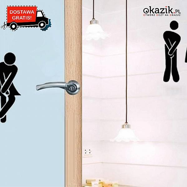 Niesamowite Zabawne naklejki na drzwi toalety: ułatwią znalezienie... UQ66