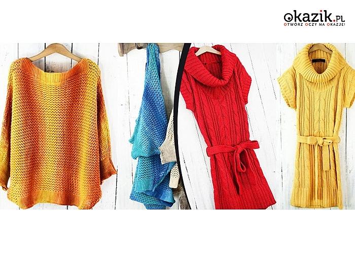 0cc9e61fb SWETER OMBRE lub GOLF damski. Różne kolory do wyboru. Uzupełnij swoją  wiosenną garderobę!
