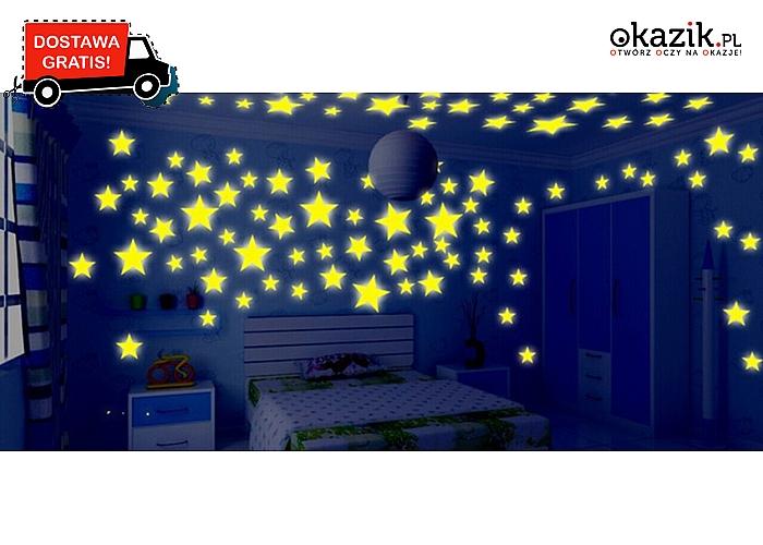 Fluorescencyjne Naklejki Na Sufit W Ksztalcie Gwiazdek