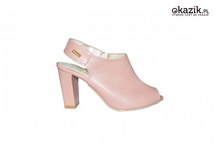 d68718f719deb3 Eleganckie sandały damskie na obcasie typu słupek. Różne kolory i wzory.  (84,99 zł)