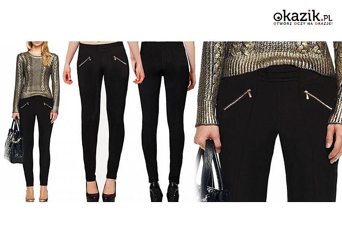 Czarne elastyczne rurki damskie, duże rozmiary.    (37 zł)
