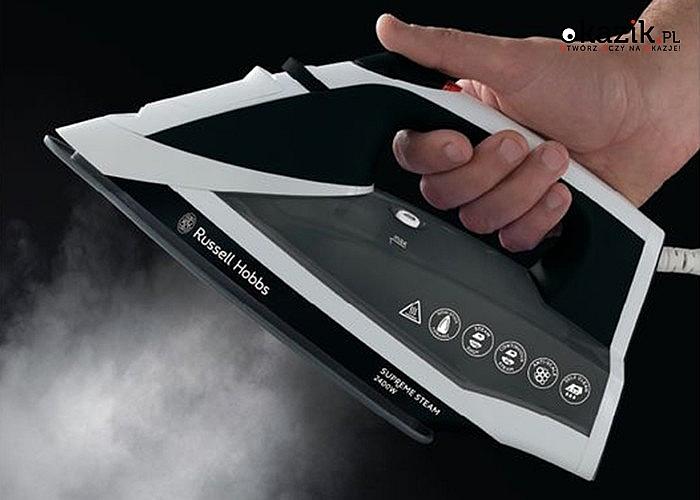 Moc pary! Żelazko Russel Hobbs 2400W! Idealnie gładka ceramiczna płyta! Funkcja samooczyszczania! Funkcja Anti Drip!