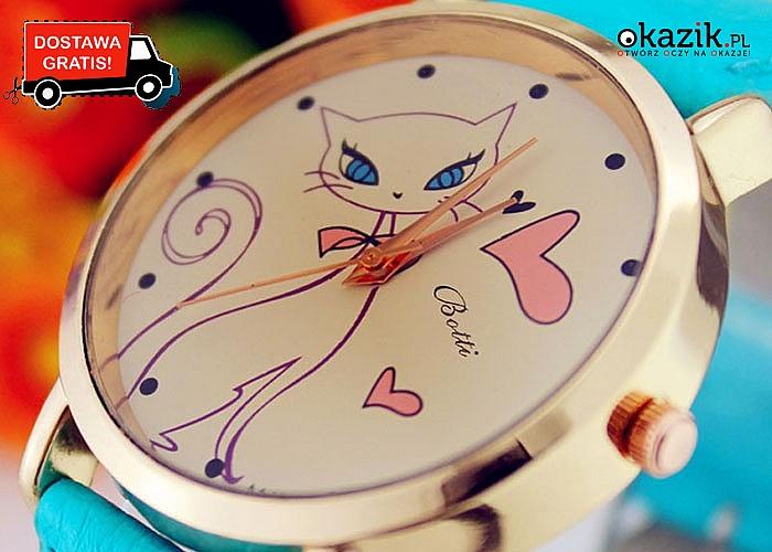Zegarek kot uroczy dodatek zgodny z najnowszymi trendami