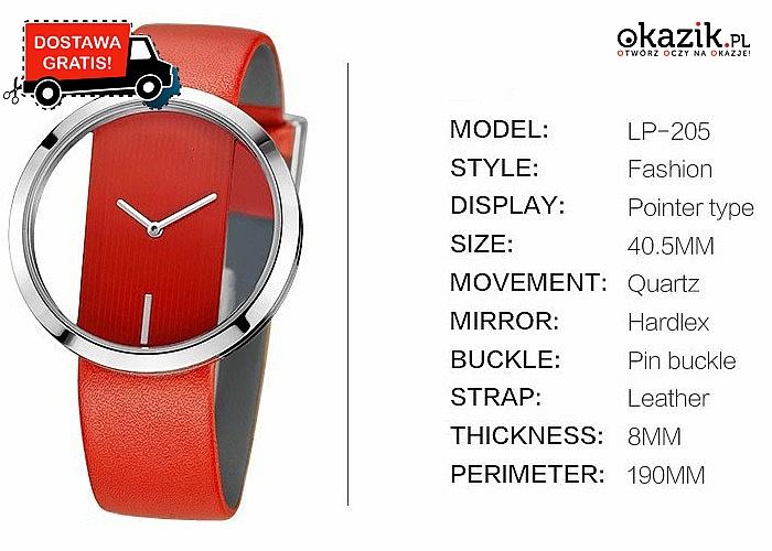 Unikatowy i nowoczesny zegarek damski! Mechanizm kwarcowy! Sprawdzi się w każdej stylizacji!