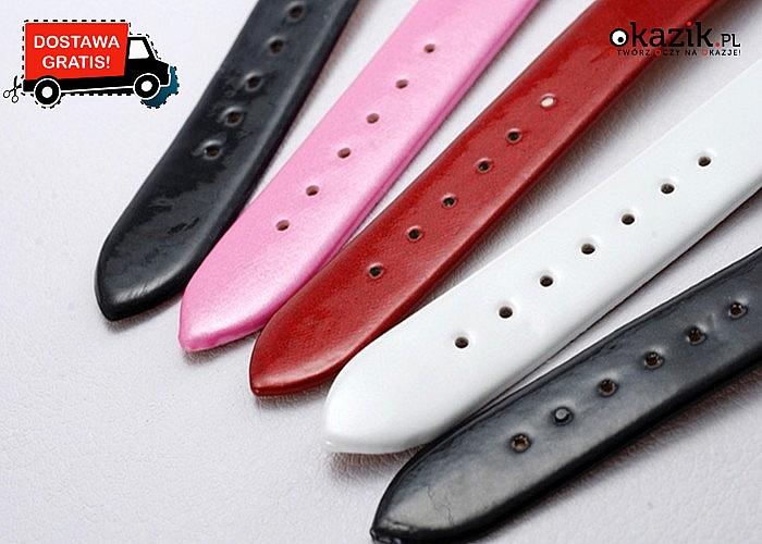 Przepiękny i elegancki zegarek w stylu kultowej myszki Miki! Dostępny w 4 kolorach! Mechanizm kwarcowy!