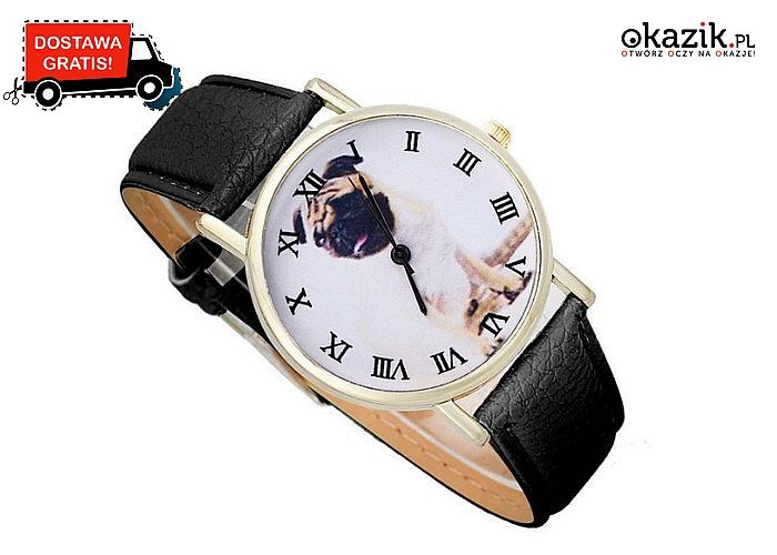 Wyjątkowy zegarek dla miłośniczek mopsów