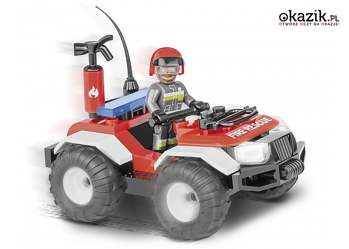 Cobi Klocki: Action Town Patrol Straży Pożarnej 56 elementów