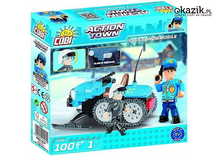 Cobi Klocki: Action Town Policyjny skuter śnieżny, 100 elementów