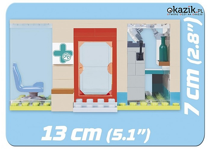 Cobi Klocki: Action Town 100 elementów Weterynarz