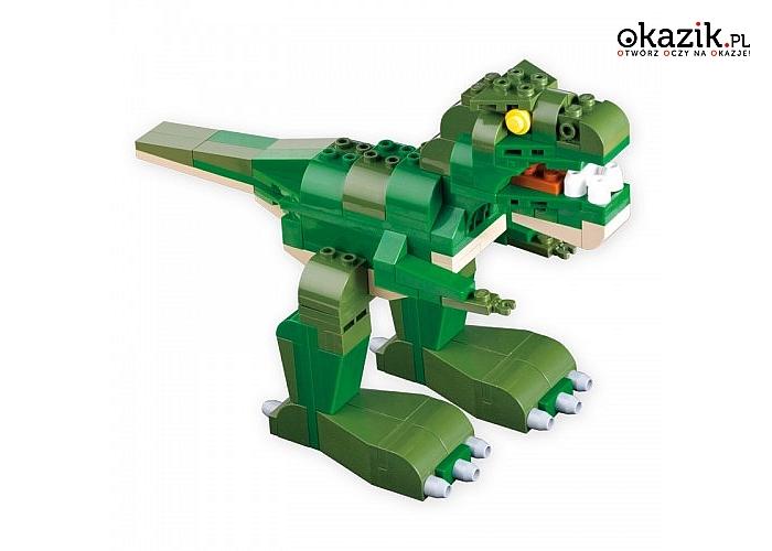 Cobi Klocki: Creative Power 250 elementów Dinozaur Żaba Krokodyl