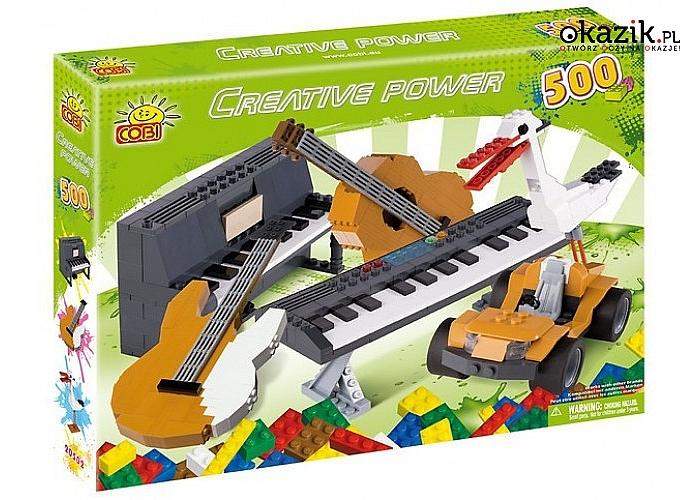 Cobi Klocki: Creative Power 500 elementów Instrumenty, Bocian