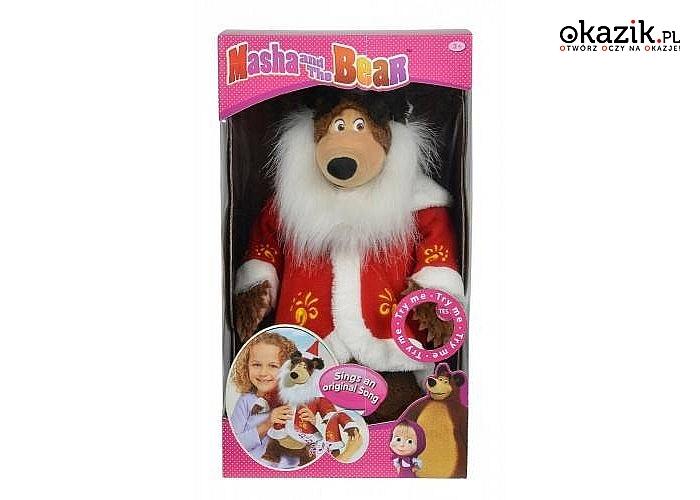 Simba: Masza i Niedźwiedź - Świąteczny Misza, 43 cm