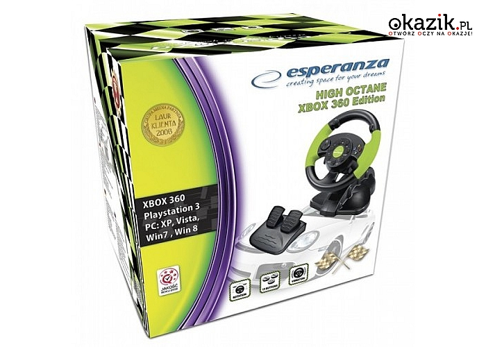 Esperanza: KIEROWNICA EG104 PC/PS3 X-BOX 360, VIBRATION FOR