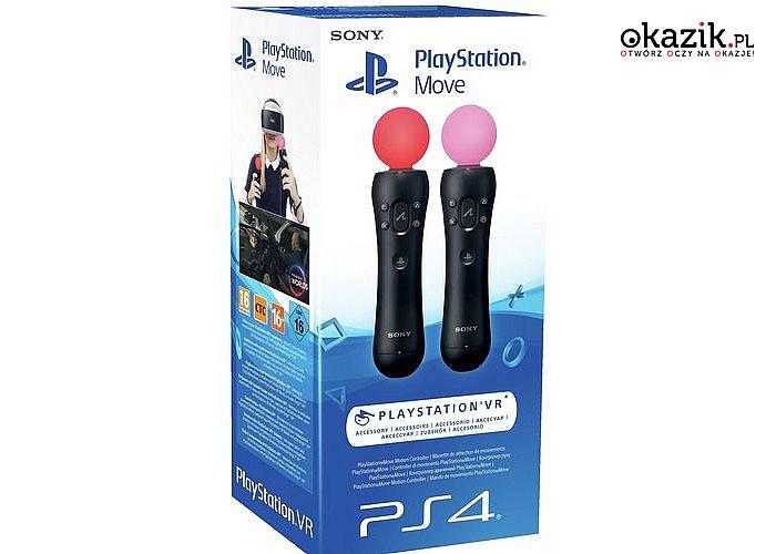 Sony: PS4 Move Twin Pack. Idealny dodatek do wirtualnej rzeczywistośc