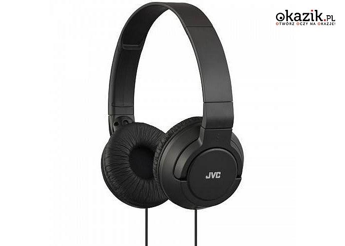 JVC: HA-S180 Lekkie słuchawki nauszne Czarne