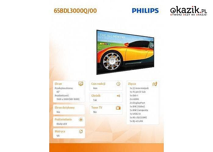 Philips: 65'' 65BDL3000Q LED VA Public Display