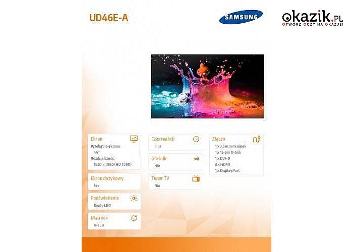 Telewizor Samsung: 46' UD46E-A