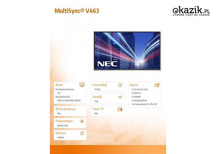 NEC: 46'' V463 bk, AMVA3 4000:1, Edge LED backlights