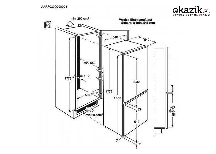 Electrolux: Chłodziarko-zamrażarka ENN2853COW