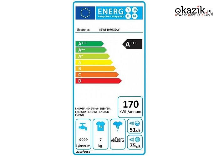 Electrolux: Pralka parowa EWF1076GDW