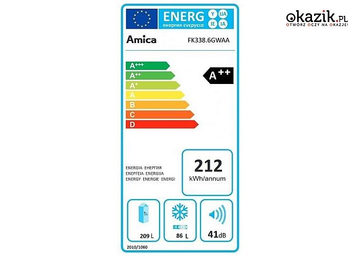 Amica: FK338.6GBAA Chłodziarko-zamrażarka