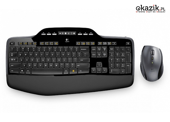 Logitech: MK710 Bezprzewodowy zestaw klawiatura i mysz 920-002440