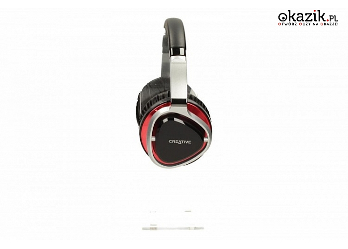 Creative Labs: Aurvana Live2 słuchawki nauszne czarno-czerwone