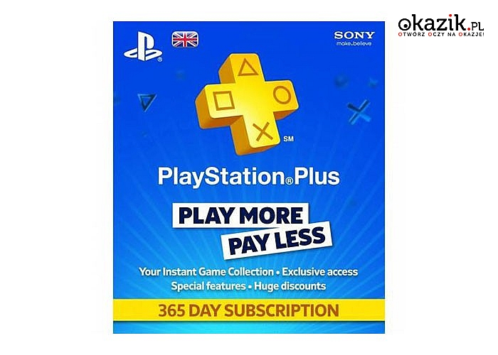 Sony: PlayStation Plus Card 365 Days 9261537