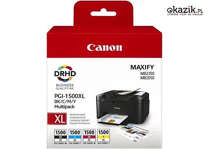 Canon: Tusz PGI-1500XL CMYK MULTI 9182B004