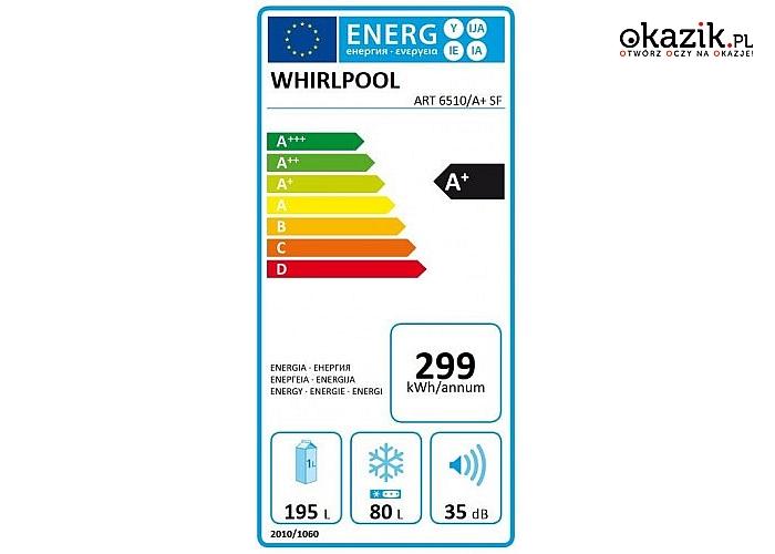 Whirlpool: Chłodziarko-zamrażarka  ART6510A+SF