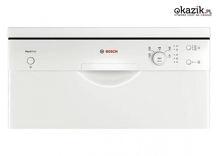 Zmywarka SMS50D62EU marki Bosch. 5 programów, 4 temperatury, pojemność 12 kompletów i zużycie wody 11,7 L