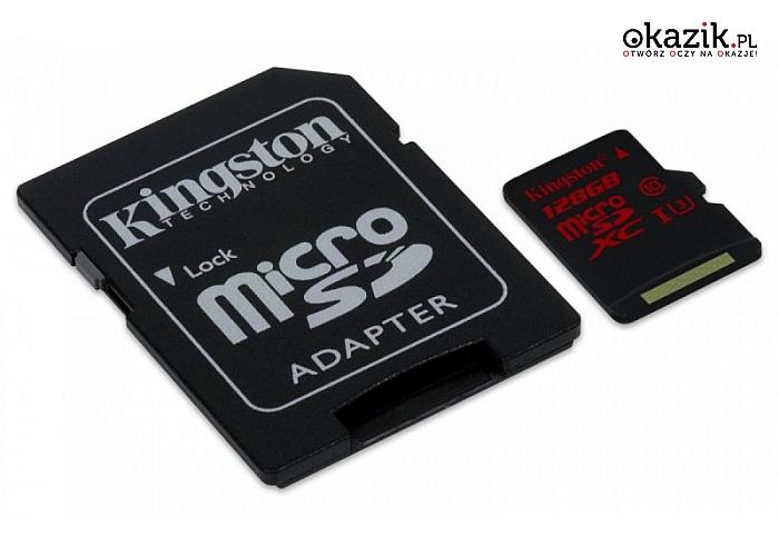 Kingston: microSD 128GB UHS-I(U3)  90/80 MB/s