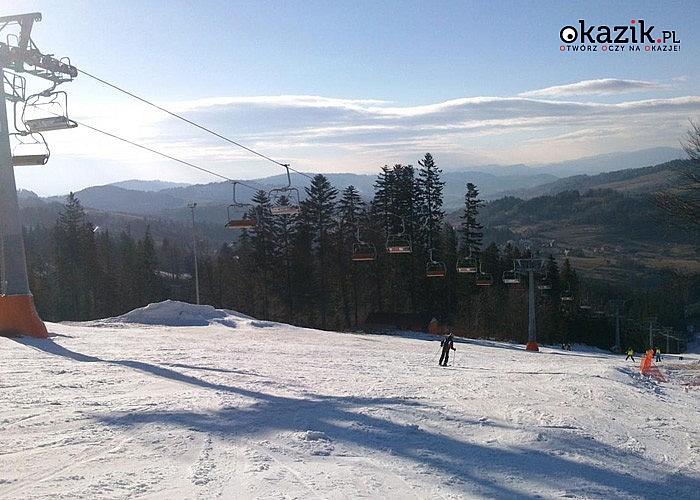 FERIE W BESKIDZIE SĄDECKIM z nauką jazdy na nartach! D.W. Leśny w Soli Kiczora k. Zwardonia zaprasza