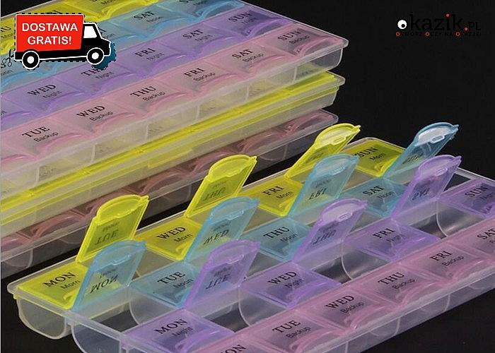 Pojemnik do dawkowania leków pomoże w regularnym przyjmowaniu tabletek