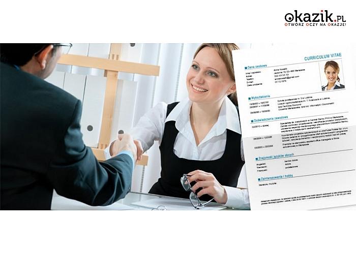 Indywidualnie przygotowanie CV i LIST MOTYWACYJNY w trzech językach do wyboru lub pakiet szablonów dokumentów