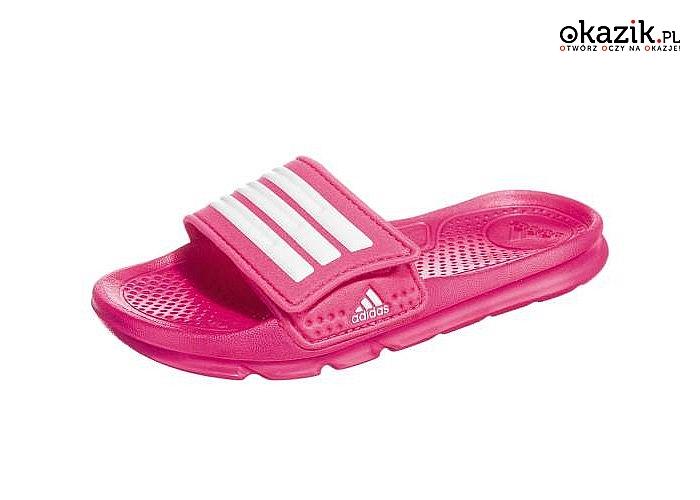2b2d2d97e7f7 Klapki dziecięce Adidas Halva 4 CF K zapewnią komfort i bezpieczeństwo  podczas zabawy na basenie czy