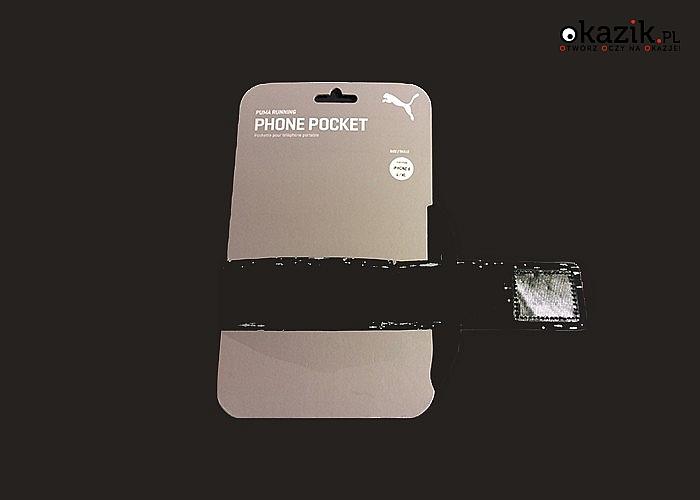 Opaska na telefon Puma Sport! Regulowana! Wykonana z najwyższej jakości materiału! Zwiększa widoczność na drodze!