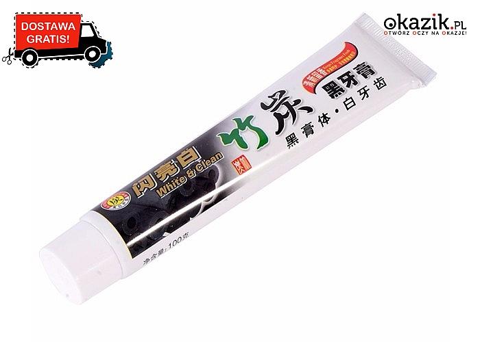 Czarna pasta do zębów z czarnego bambusa z węglem aktywnym! Skutecznie i wybiela i nie uszkadza szkliwa!