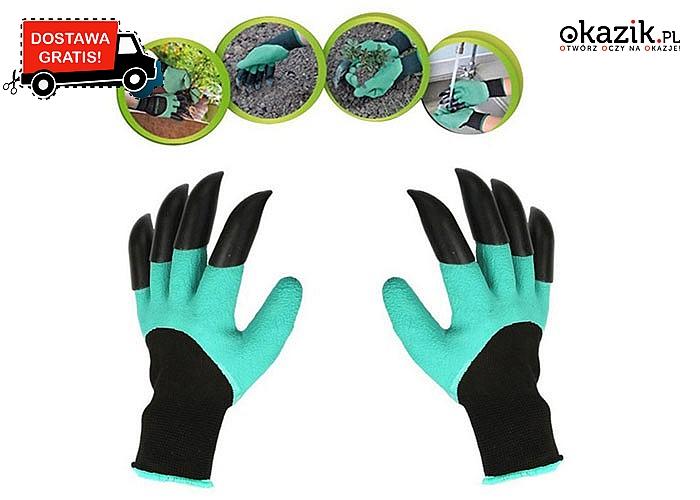 e1e2f5c8f7a69 Rękawice ogrodowe, które zastąpią mnóstwo narzędzi! Wykonane z wysokiej  jakości materiału! Nie ograniczają