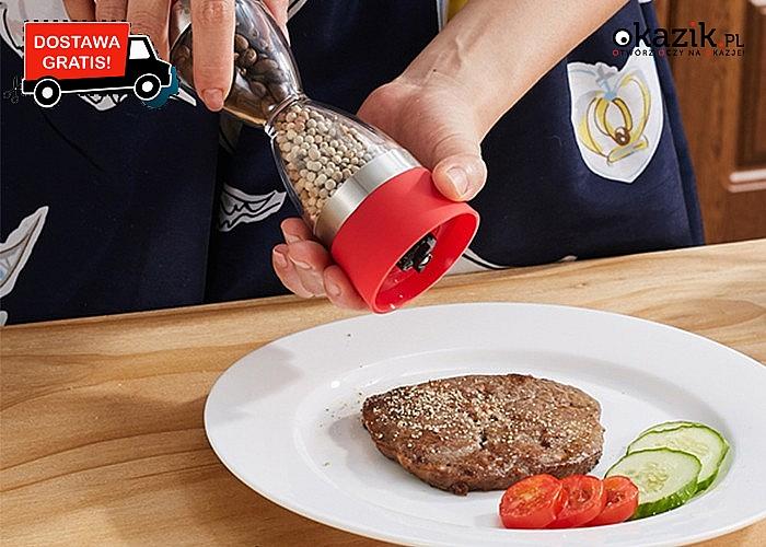 Młynek do soli i pieprzu! Nowoczesne urządzenie 2 w 1! Niezbędnik w Twojej kuchni.