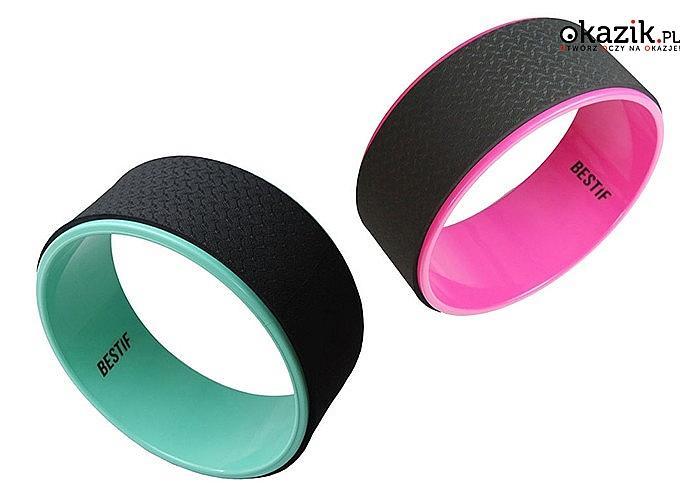 Koło do jogi Yoga Wheel renomowanej marki Bestif, dzięki niemu odkryjesz nowe pozycje w jodze